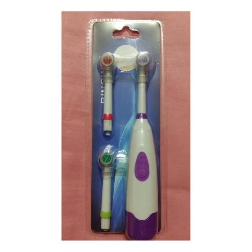 แปรงสีฟันอิเล็คทรอนิคส์ ด้ามแปรง 1 ด้าม หัวเปลี่ยนอีก 3 หัว
