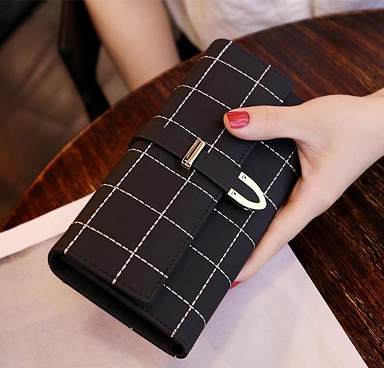 กระเป๋าสตางค์ผู้หญิง Table Top สีดำ