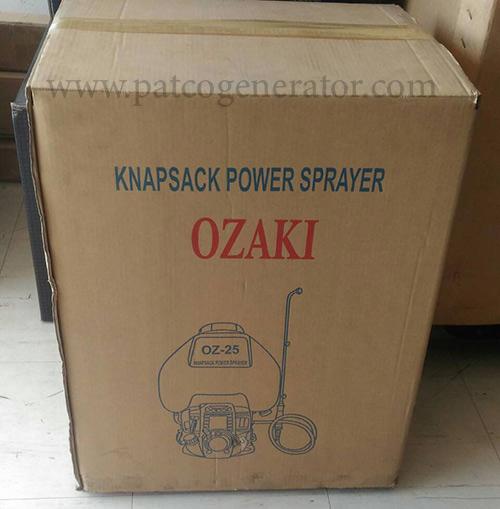 """เครื่องพ่นยาสะพายหลัง """"OZAKI"""" #OZ-25 ติดเครื่องยนต์ฮอนด้ารุ่น GX35 Knapsack power sprayer"""
