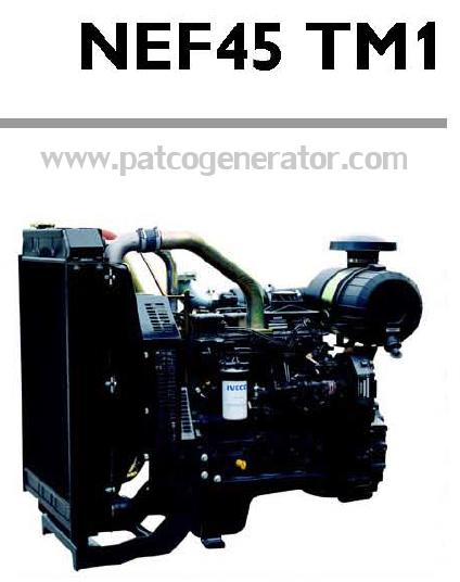 """เครื่องยนต์ดีเซล Diesel Engine """"IVECO"""" 4 สูบ Cylinder # NEF45TM1 ขนาด prime 77 kw. @ 1500 RPM."""