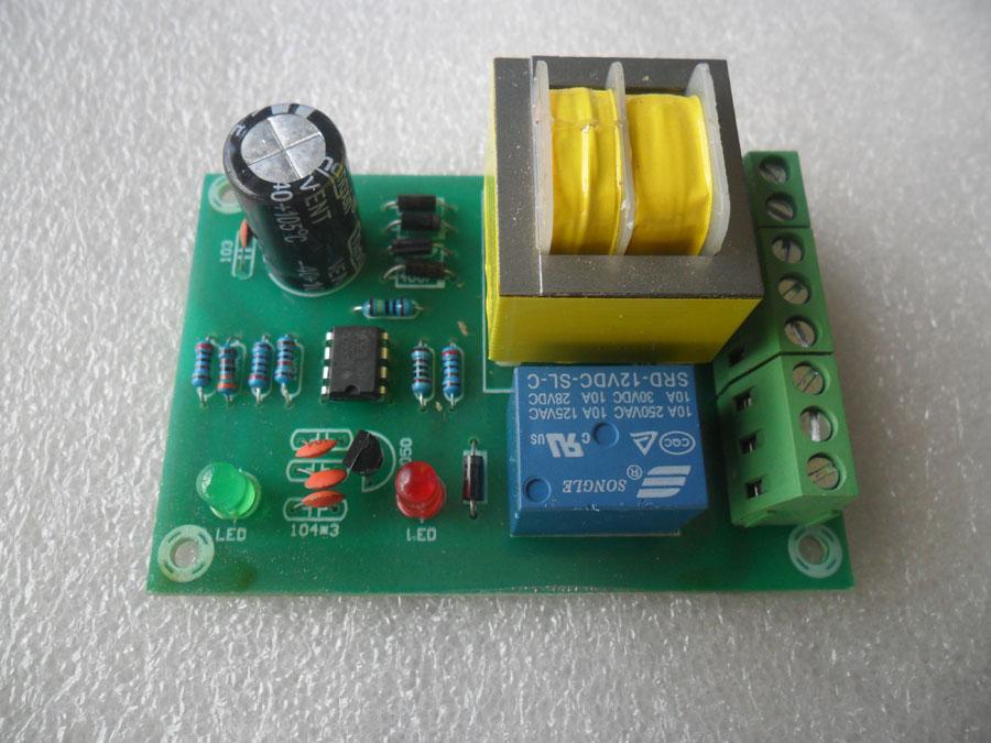 วงจรควบคุมระดับน้ำแบบมีหม้อแปลง 220V ในตัว