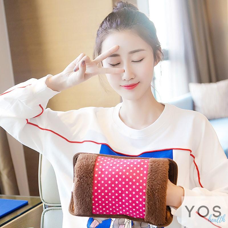 กระเป๋าน้ําร้อนไฟฟ้าลายจุดเล็ก Y415-PI สีชมพู