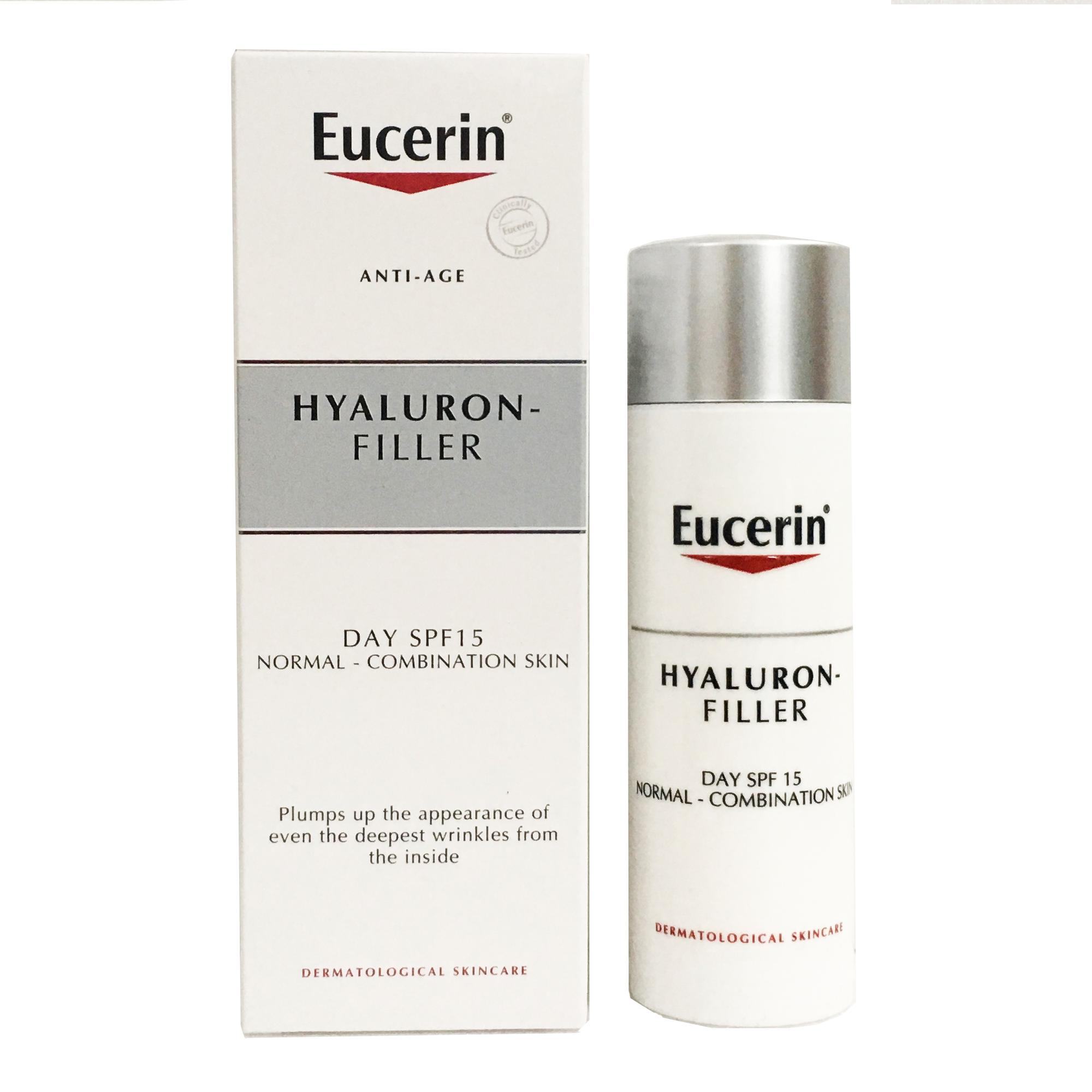 Eucerin Hyaluron-Filler Day SPF15 Anti-Age ยูเซอริน ไฮยารูรอนฟิลเลอร์ ผสมกันแดด 50ml.