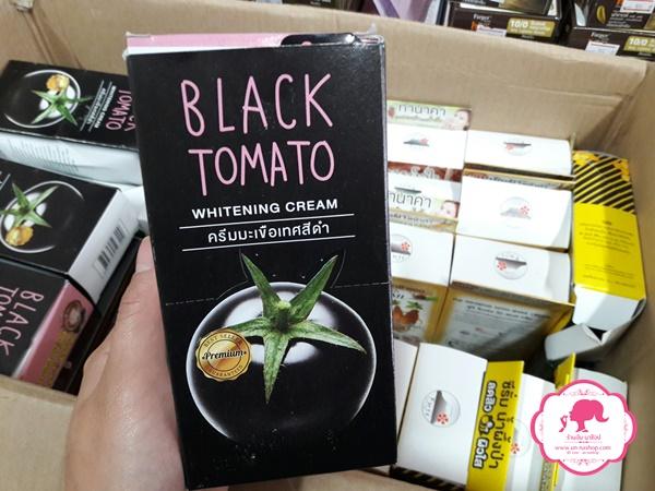 ขายส่งครีมซองฟูจิ fuji black tomato whitening cream ครีมมะเขือเทศสีดำ