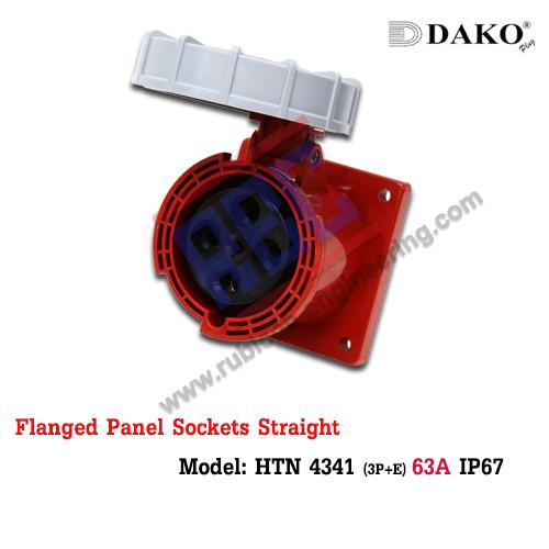 เต้ารับฝังตรงกันน้ำ HTN 4341 (4P) 63A ,380-415V ~, IP67 ,DAKO