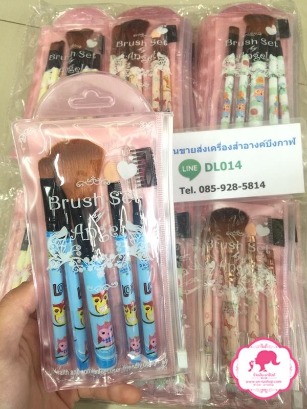 brush set angel ชุดแปรงแต่งหน้าลายการ์ตูน RUI043