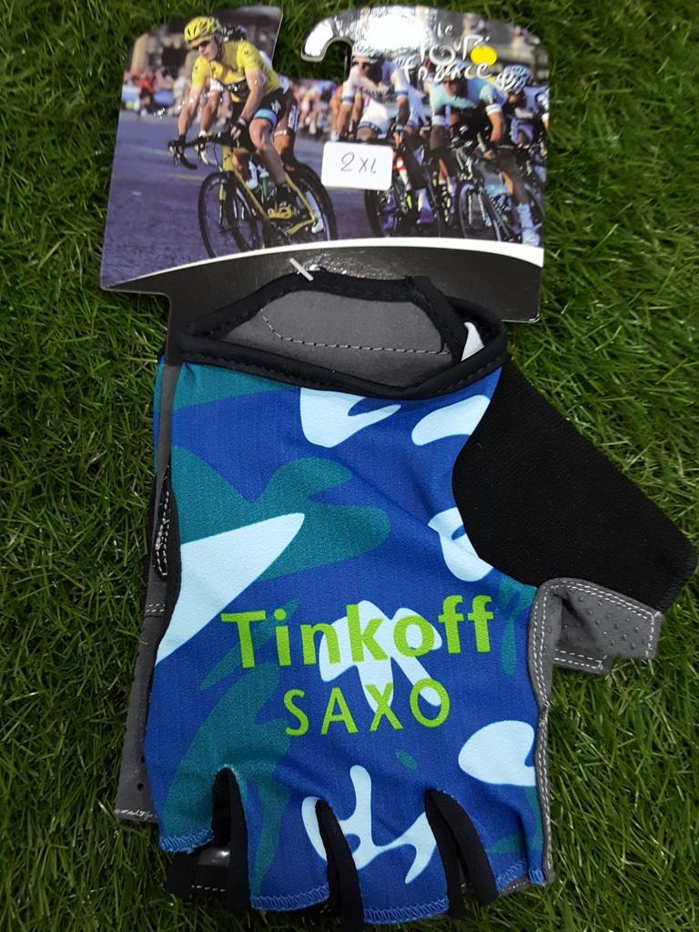 ถุงมือปั่นจักรยานโปรทีม Saxo Tinkoff : GP150070