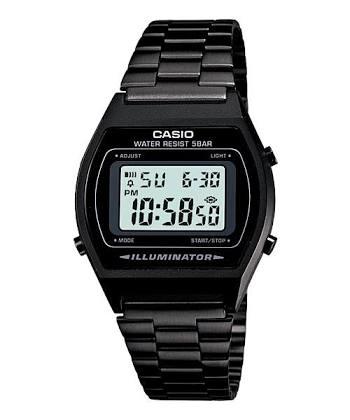 นาฬิกา CASIO ดิจิตอล สีดำล้วน Black color รุ่น B640WB-1A STANDARD DIGITAL สายสแตนเลสรมดำ ของแท้ รับประกันศูนย์ 1 ปี