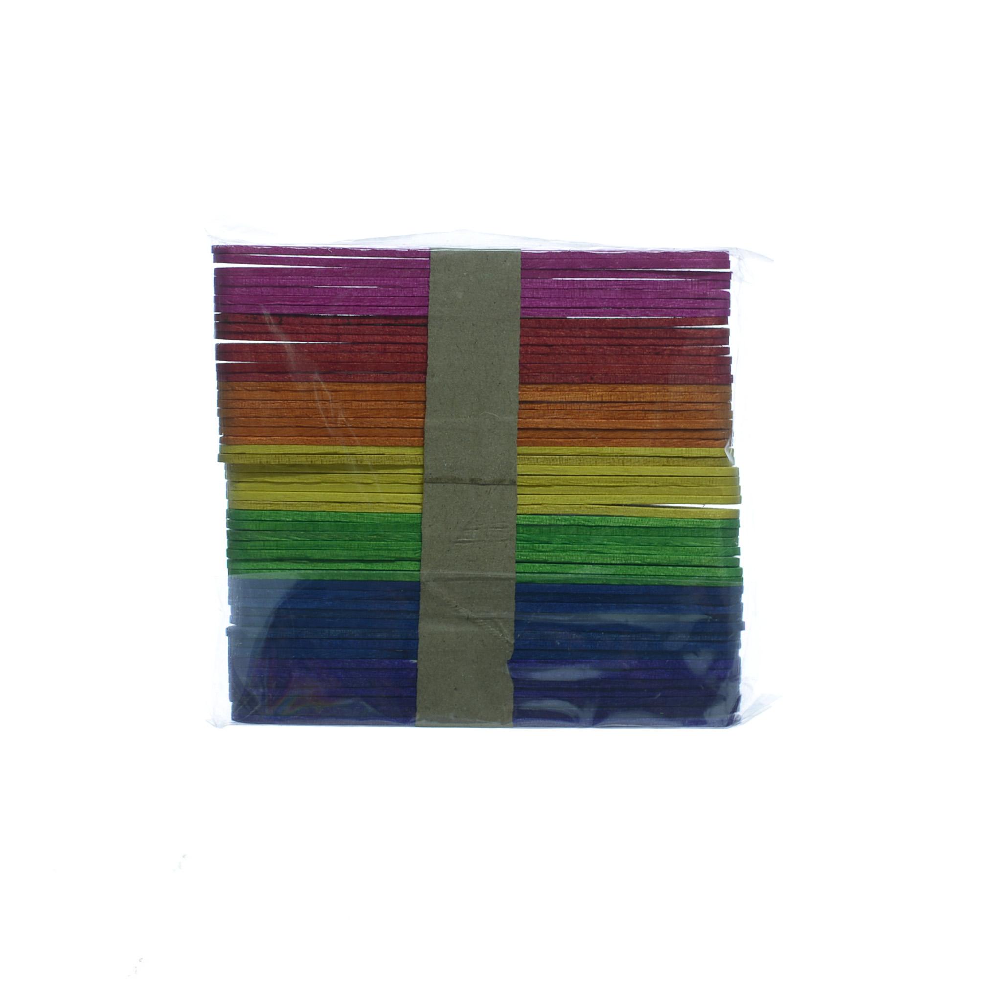 ไม้ไอติมคละสี (1x50) ย.4.5นิ้ว