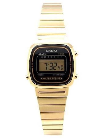 นาฬิกา CASIO ดิจิตอล สีทอง รุ่น LA670WGA-1 STANDARD DIGITAL RETRO CLASSIC ของแท้ รับประกันศูนย์ 1 ปี