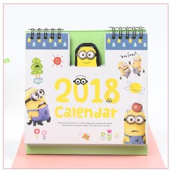 ปฏิทินตั้งโต๊ะ Minions 2018 #มินเนี่ยน