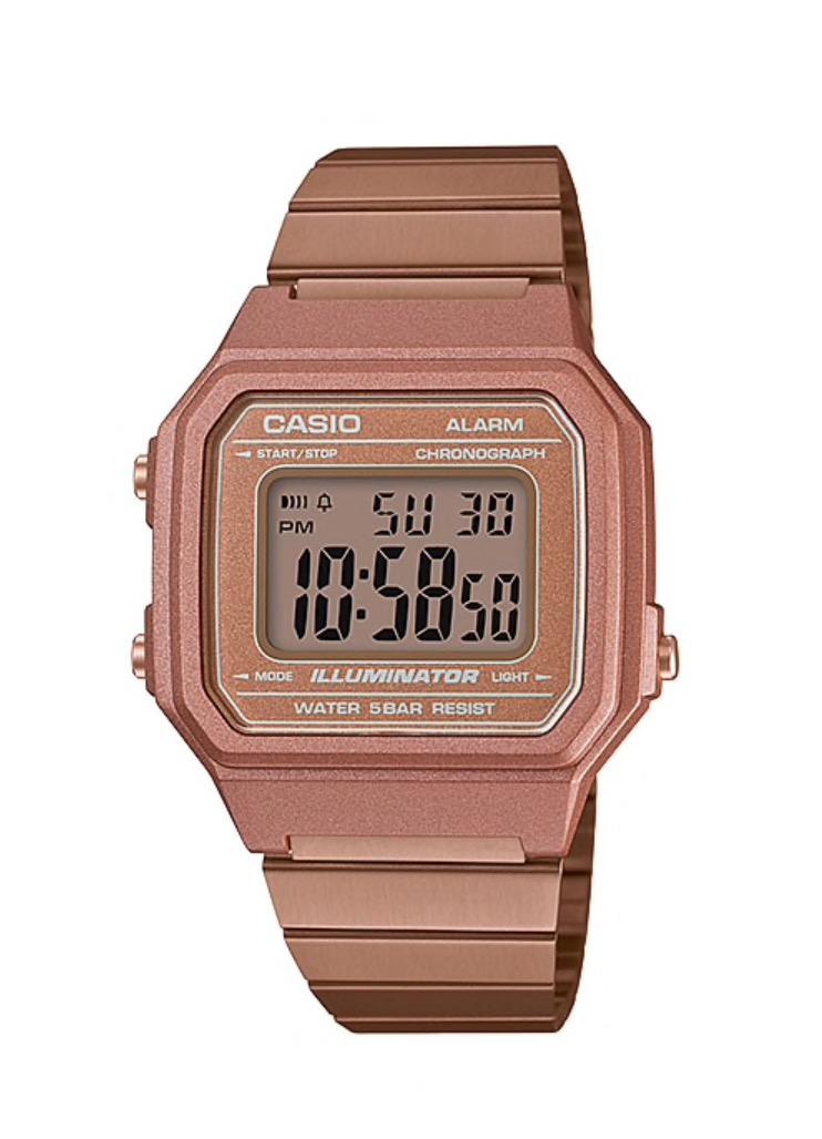 นาฬิกา คาสิโอ Casio STANDARD DIGITAL B650 series รุ่น B650WC-5A (Rose Gold) ของแท้ รับประกันศูนย์ 1 ปี