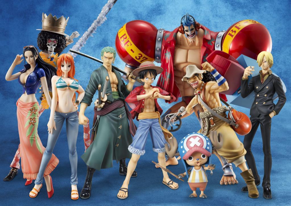 Straw Hat Pirates ของแท้ JP แมวทอง - POP Sailing Again Megahouse [โมเดลวันพีช] (Super Rare) 9 ตัว