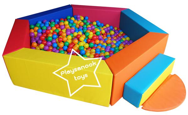 EVB-04-1 บ่อบอลหกเหลี่ยม พร้อมลูกบอล 1000 ลูก