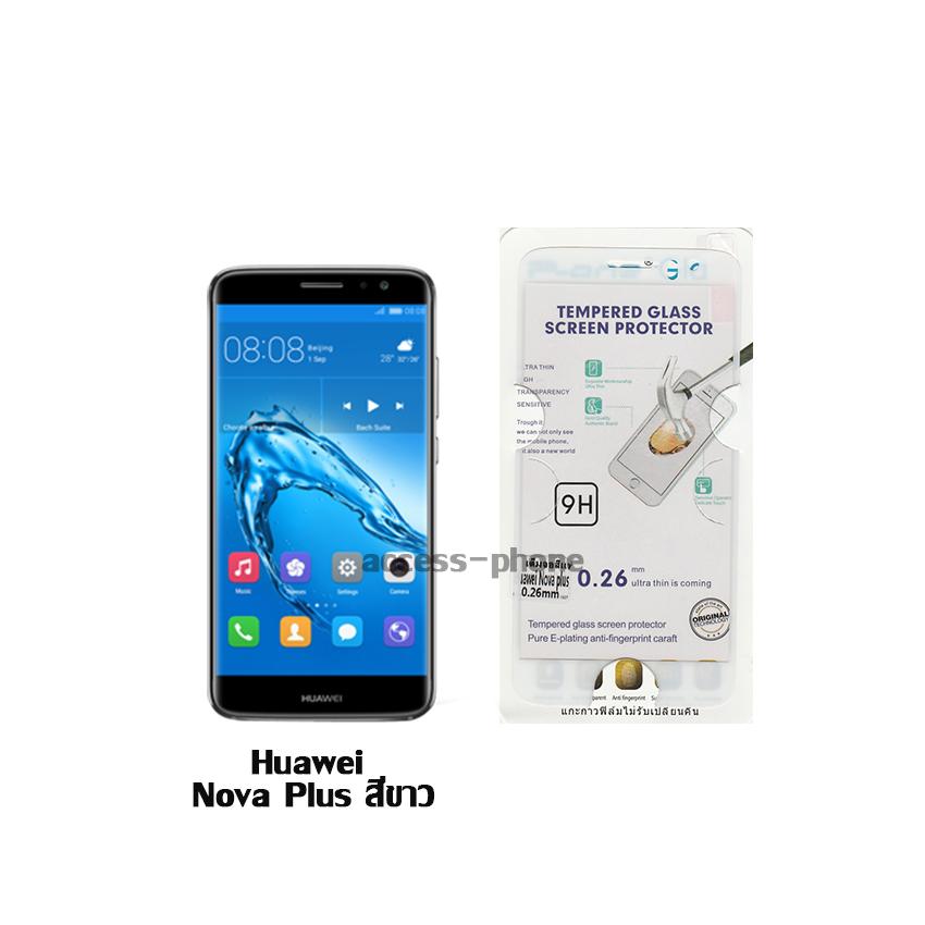 P-one ฟิล์มกระจกเต็มจอ Huawei Nova Plus สีขาว
