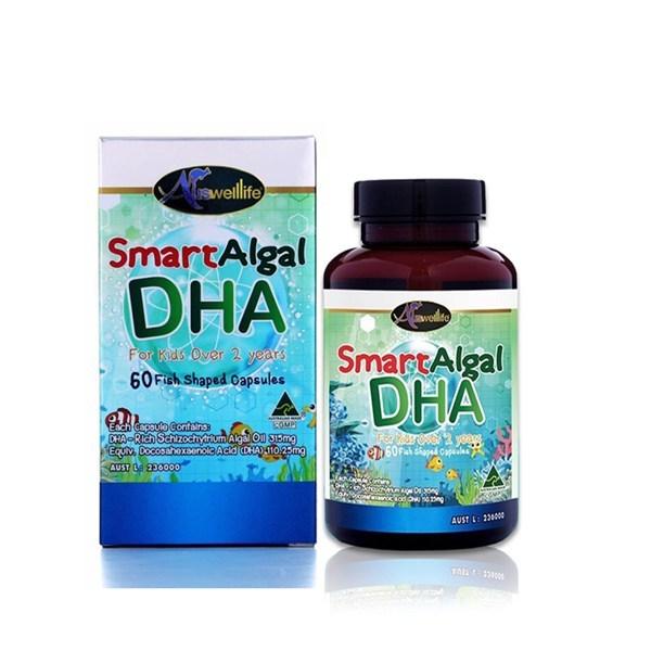 Auswelllife Smart Algal DHA ออสเวลไลฟ์ ดีเอชเอ วิตามินบำรุงสมอง 60 แคปซูล