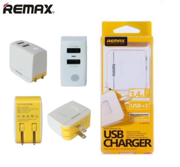 Remax Dual USB Charger 3.4A สีขาว
