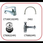 ชุด SETก๊อก+สะดือ+ท่อน้ำทิ้ง+สายน้ำดี COTTO CT-160C10SET(HM)
