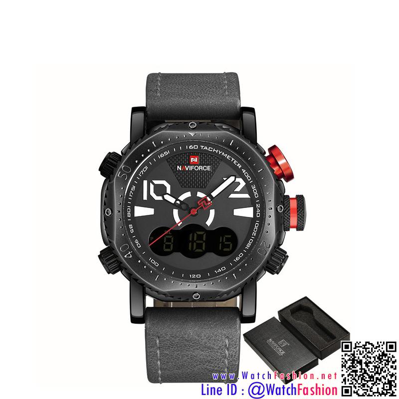 นาฬิกาข้อมือแฟชั่นนำเข้า ผู้ชาย NAVIFORCE NF9091 สองระบบ แบบ BWGY