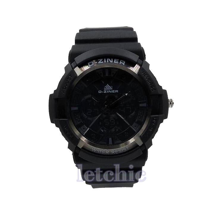 นาฬิกา D-Ziner Sport watch รุ่น DZ-8019 นาฬิกาข้อมือ unisex สีดำ ของแท้ รับประกันศูนย์ 1 ปี ราคาพิเศษ ราคาถูกที่สุด
