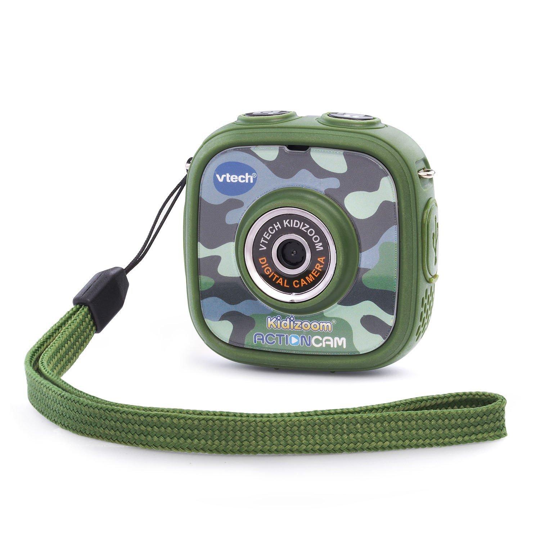 กล้องถ่ายรูปและวีดีโอ สำหรับเด็ก VTech Kidizoom Action Cam, Camouflage สีเขียว ลายทหาร สุดเท่ห์