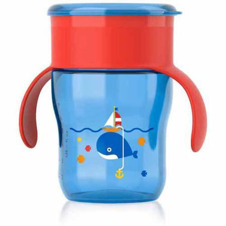 ถ้วยน้ำพร้อมฝาปิด Philips AVENT 9 Ounce Natural Drinking Cup สีฟ้า