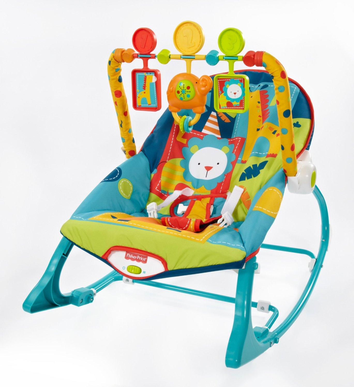 เปลโยก Fisher Price Infant to Toddler Rocker – Dark Safari ลายสวนสัตว์ซาฟารี