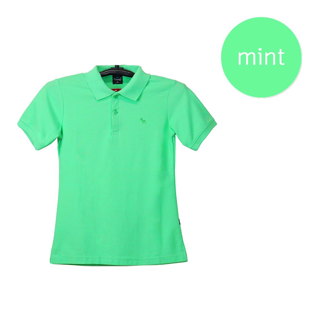 เสื้อโปโลหญิงสีเขียวมิ้นท์