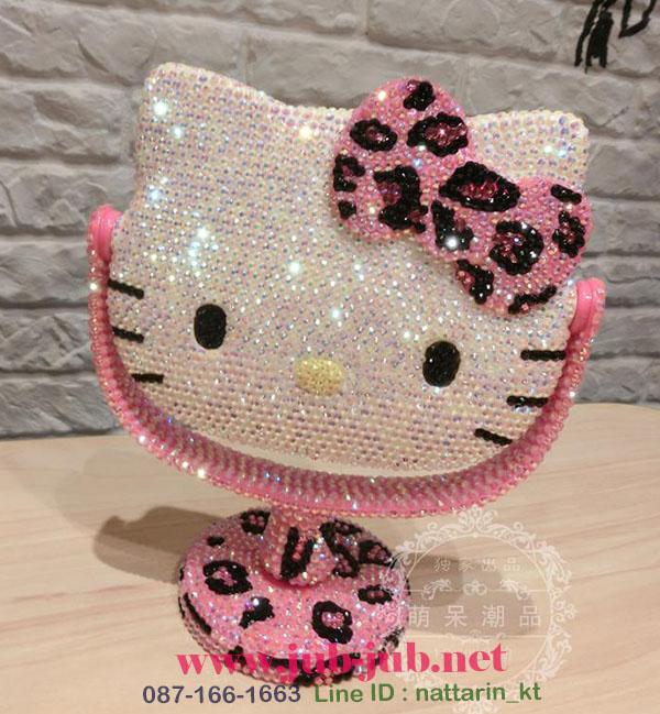 PRE-ORDER---Hello kitty กระจกตั้งโต๊ะคิตตี้งานแฮนด์เมด นำเข้าจากฮ่องกงค่ะ สวยหรูมากค่ะ