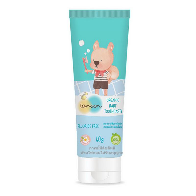 Lamoon ละมุน ยาสีฟัน ออร์แกนิค 40g. Organic Baby Toothpaste