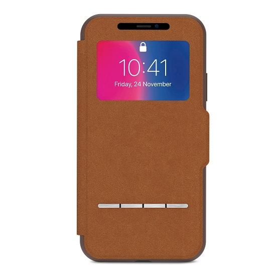 เคสฝาพับ Moshi SenseCover for iPhoneX - สีน้ำตาล