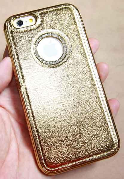 เคสประกบเพชร ไอโฟน6 gold