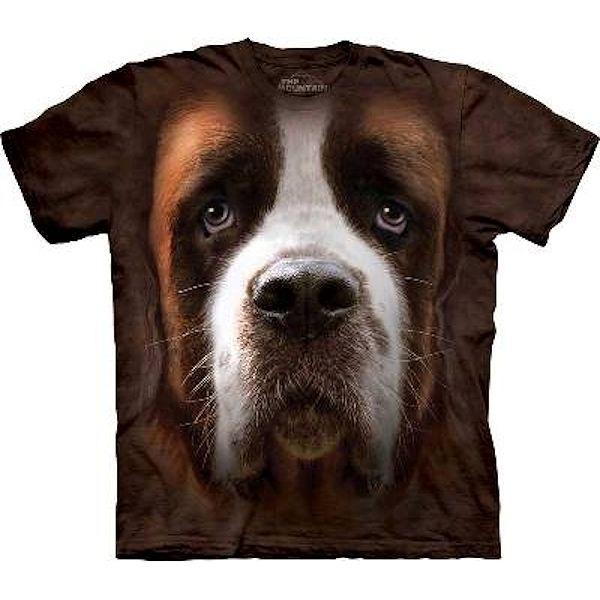 The Mountain Big Face Saint Bernard Dog T-Shirts