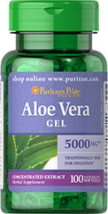 Puritan's Pride - Aloe Vera Extract 25 mg 100 Softgels
