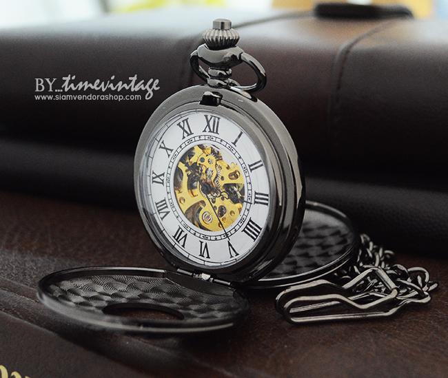 นาฬิกาพกเปิด2ด้านฝาหน้า-หลัง