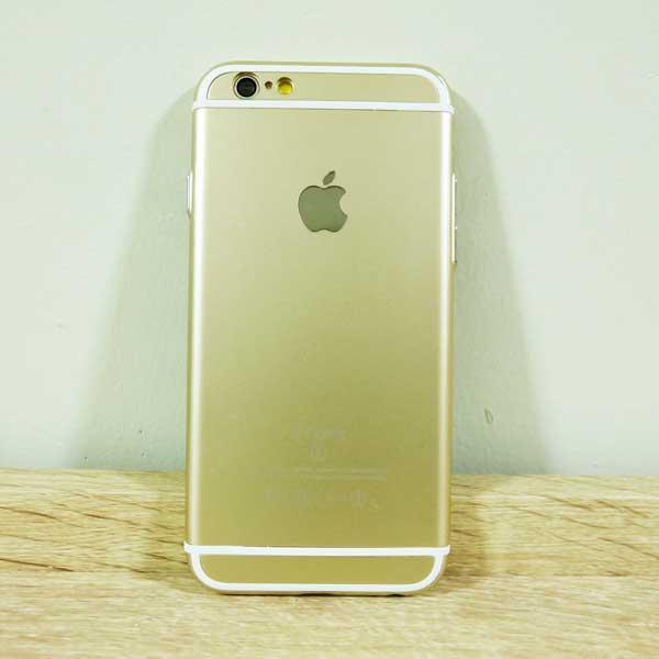 เคสไอโฟน 6/6S ยาง สีทอง