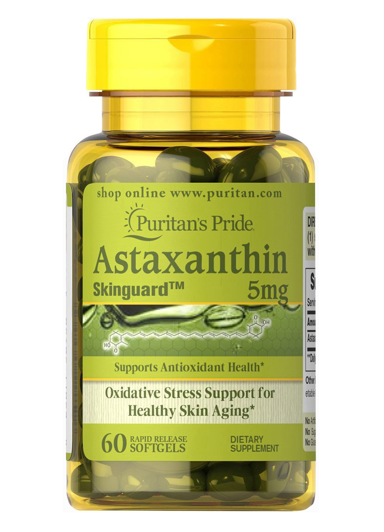 Puritan's Pride Skinguard™ Natural Astaxanthin 5 mg / 60 Softgels