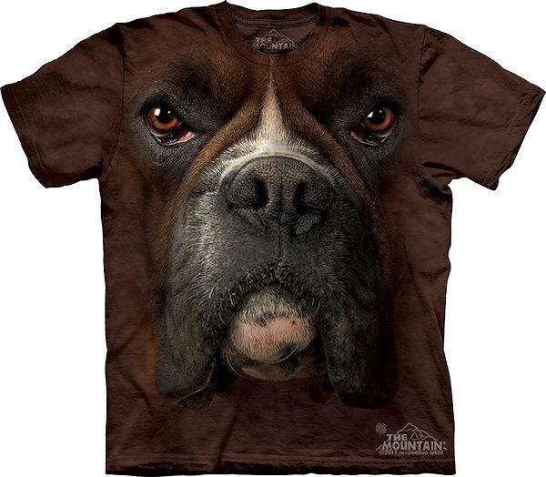 The Mountain Big Face Boxer Dog T-shirts