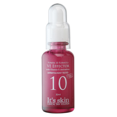 It's Skin Power 10 Formula VE Effector 30ml เซรั่มบำรุงผิว จากวิตามินอี Rose Water, vanilla extract,Boswellia extractปรับผิวให้เนียนเรียบเปล่งประกายจากชั้นใต้ผิว