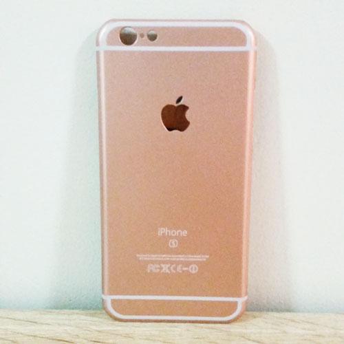 เคสไอโฟน 6 พลัส ลายไอโฟน 6S สีพริ้งโรส