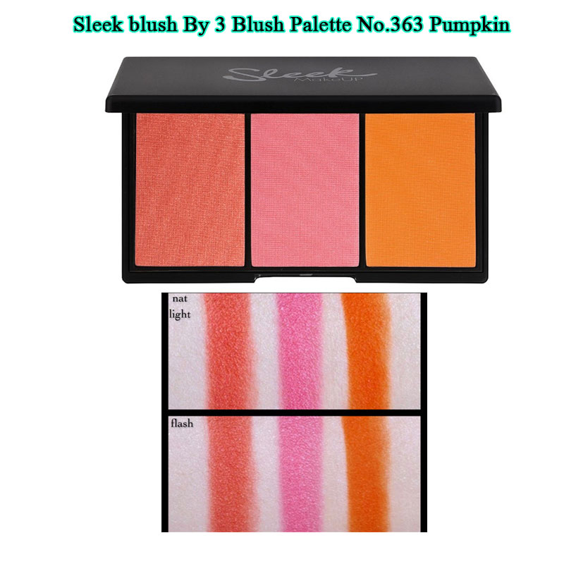 SLEEK Makeup Blush By 3 สี 363 Pumpkin พาเลต Limited ซื้อ 1 ได้สวยถึง 3 สีในหนึ่งเดียว