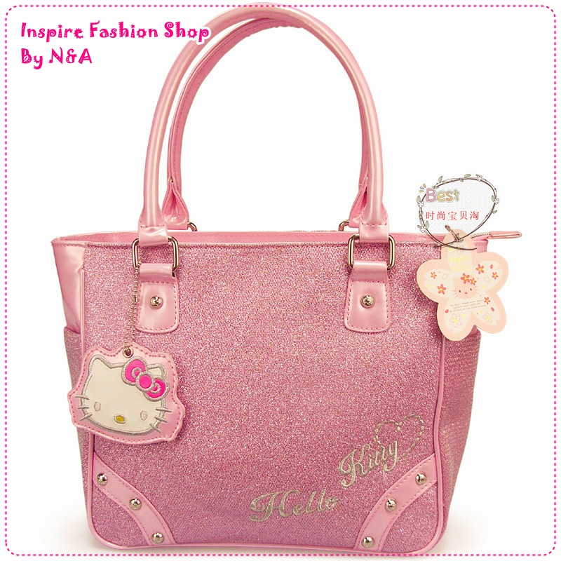 กระเป๋าสะพายข้าง Hello Kitty สีชมพู New Year new Hello Kitty shoulder bag / Hello Kitty handbag