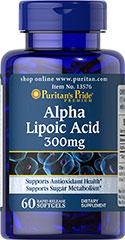 Puritan's Pride - Alpha Lipoic Acid 300 mg 60 Softgels