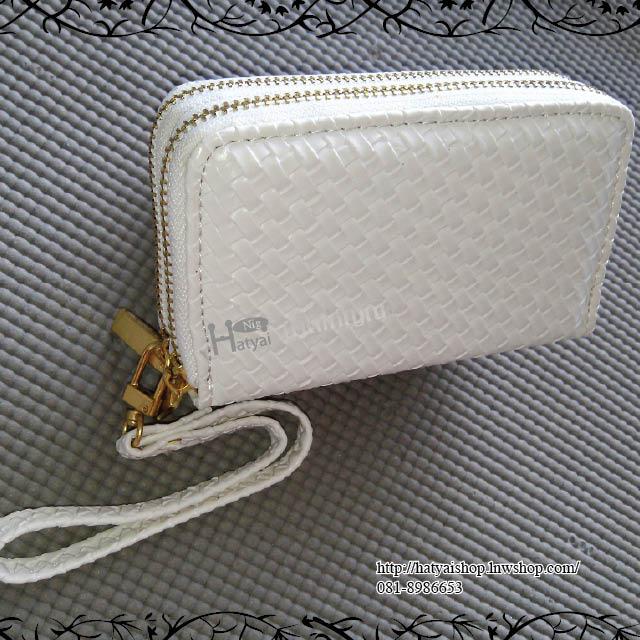 กระเป๋า w010 ลายสาน 2 ซิป 8x13cm ไซส์ S