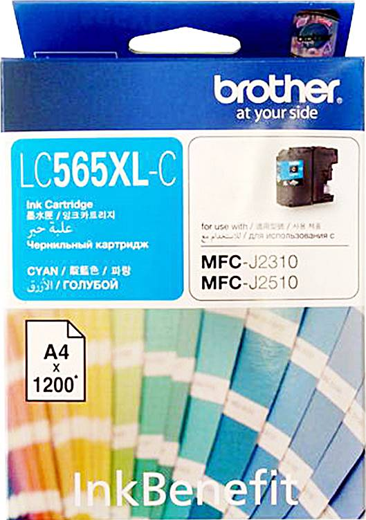BROTHER INK CARTRIDGE LC-565XLC สีฟ้า
