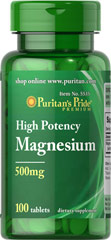 Puritan's Pride - Magnesium 500 mg 100 Tablets