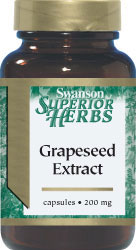 Swanson Vitamins - Grapeseed Extract 200 mg 60 Capsules