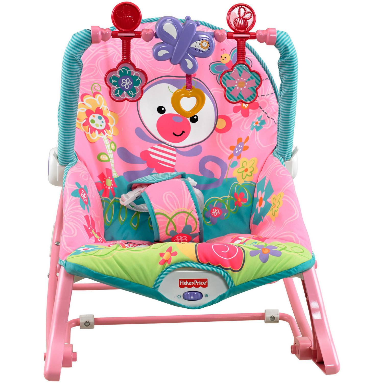 Fisher-Price Girls' Infant-to-Toddler Rocker