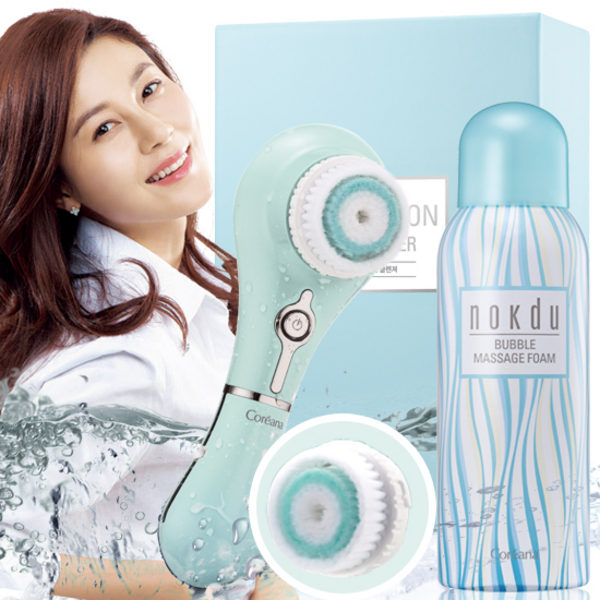 Coreana 4D Motion Cleanser + Nokdu Bubble Massage Foam Set