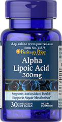 Puritan's Pride - Alpha Lipoic Acid 300 mg 30 Softgels